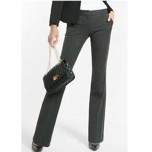 Express Columnist Low Rise Slim Flare Black Pants